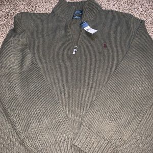 men's polo Ralph Lauren knit quarter zip